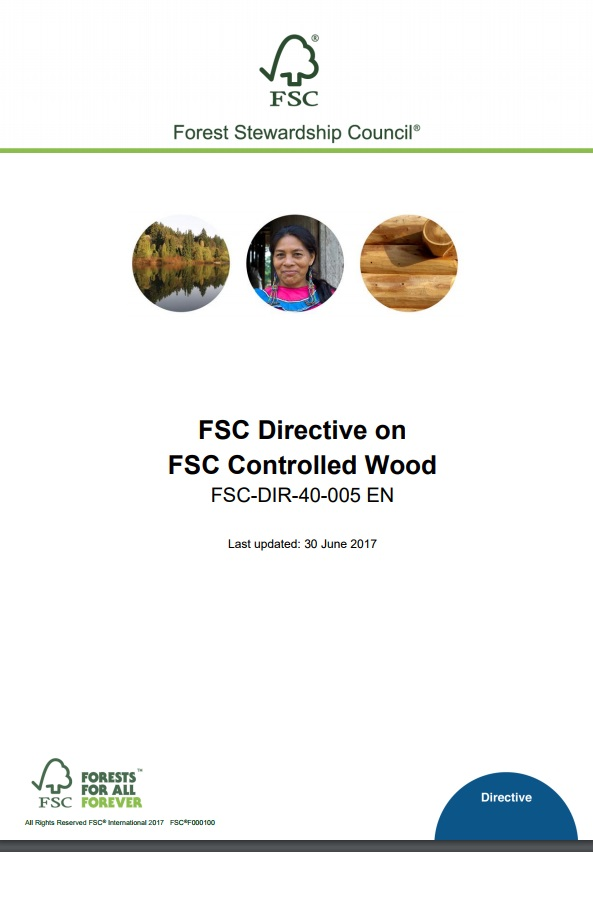Front page of FSC Directive on CW
