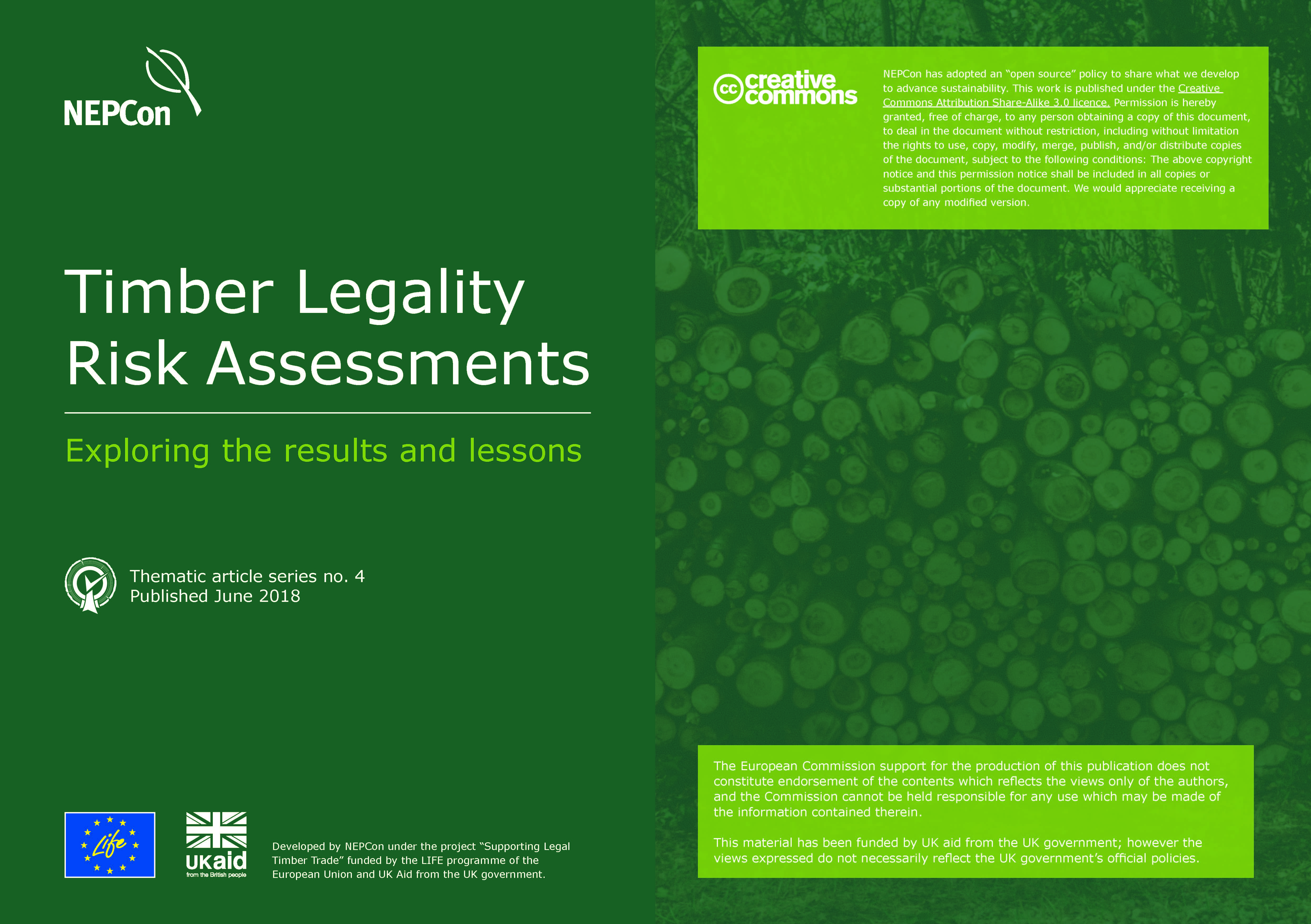 THEMATIC ARTICLE NO.4: TIMBER LEGALITY - EXPLORING THE RESULTS AND LESSONS