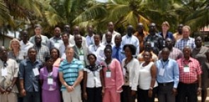 Participants in a FLEGT training course held in Ghana.