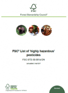 FSC list of Highly Hazardous' Pesticides