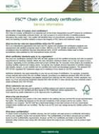 FSC Chain of Custody Certification