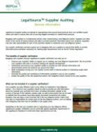 LegalSource Supplier Evaluation