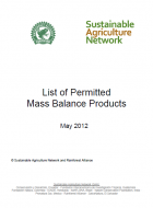 List of Permitted Mass Balance Products
