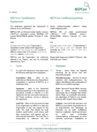 NEPCon Certification Agreement Template