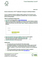 FSC Trademark Training - Access Instruction