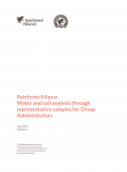 Rainforest Alliance - Water and soil analysis through representative samples for Group Administrators