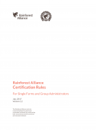 Rainforest Alliance Certification Rules