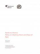 Rainforest Alliance Policy on Working Hours and Days of Rest