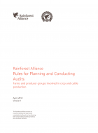 Rainforest Alliance Rules for Planning and Conducting Audits