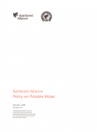 Rainforest Alliance Policy on Potable Water