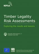 THEMATIC ARTICLE NO 4: Timber Legality - Exploring the results and lessons