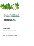 DD-14 Supplier Audit Report Template V3.0