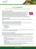 UTZ Code of Conduct Certification Factsheet