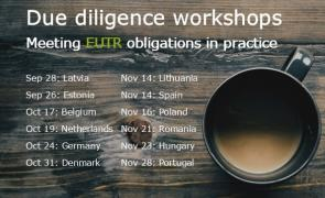 Dates and locations of EUTR training courses
