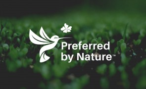 Preferred by Nature logo on green background